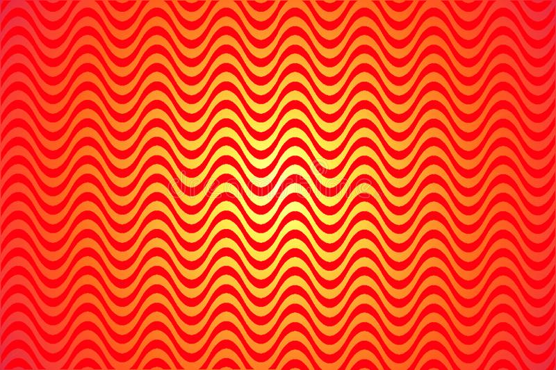 Heat wave. A vector background texture, pattern shape red and yellow fire. Sunburst Hot Heat background. stock illustration