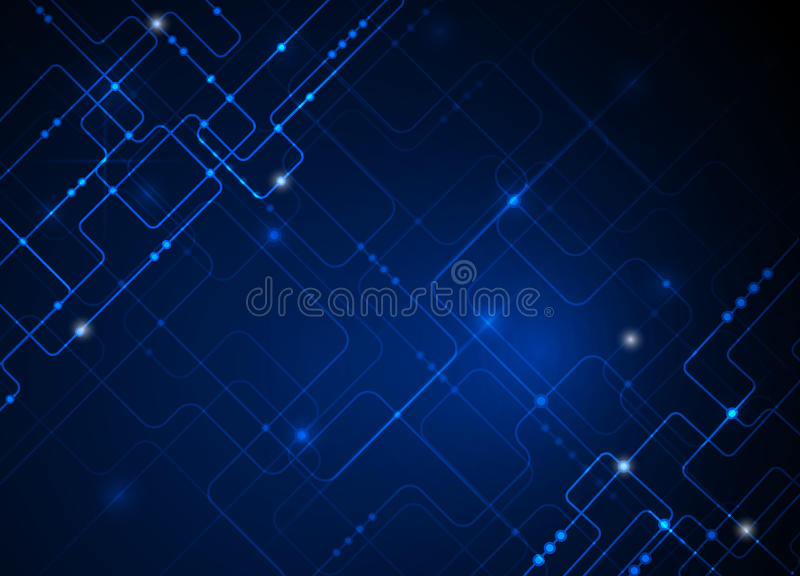 Vector Illustration Hi Tech Blue Abstract Technology
