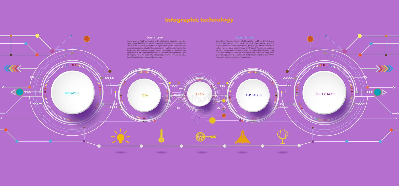 Vector illustration Hi-tech digital and engineering telecoms technology for infographic. Vector illustration Hi-tech digital and engineering telecoms technology royalty free illustration