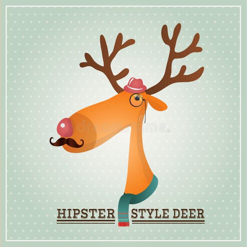 Download Vector Illustration Hipster Reindeer Stock Vector - Illustration: 36409953