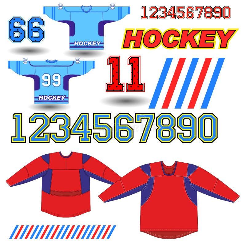 Vector illustration of hockey Jersey royalty free illustration