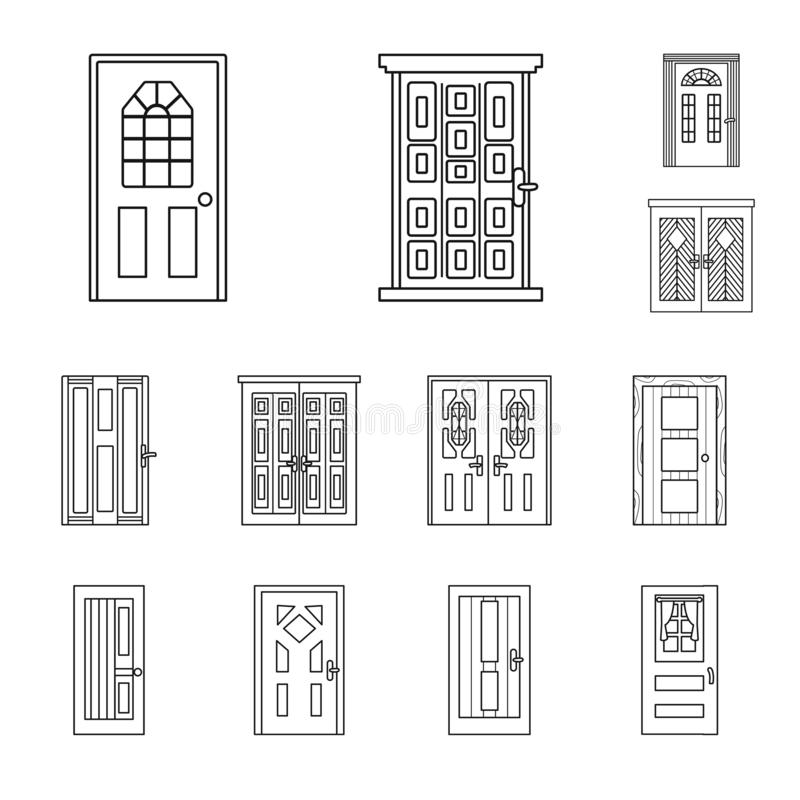 Vector design of home and design sign. Collection of home and office vector icon for stock. stock illustration