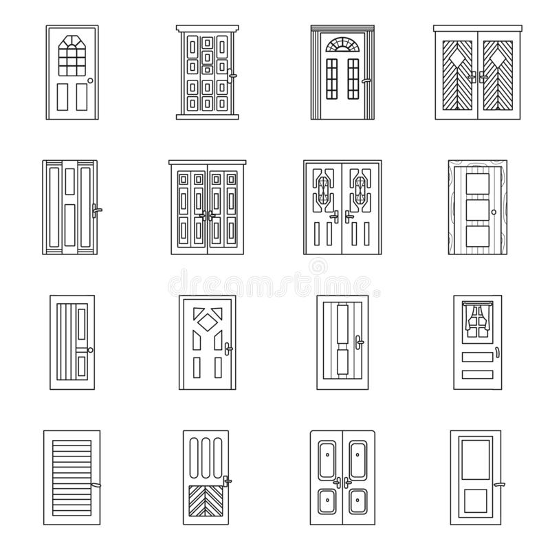 Vector design of home and design symbol. Collection of home and office stock symbol for web. royalty free illustration