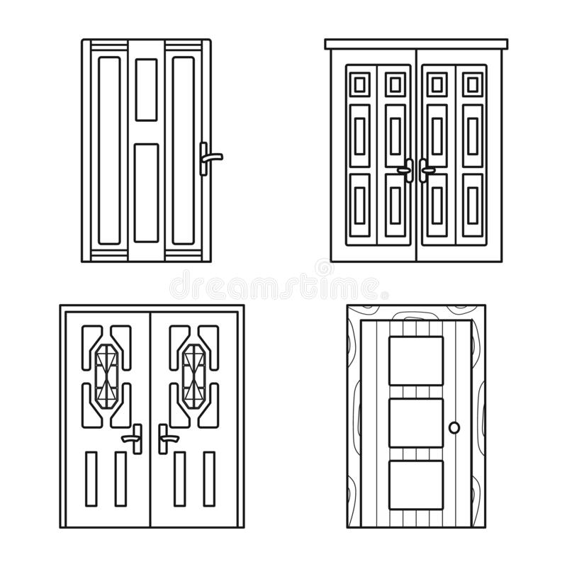 Vector design of home and design icon. Collection of home and office vector icon for stock. vector illustration