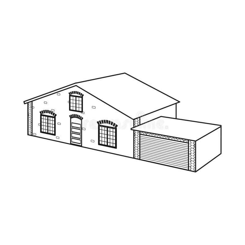 Vector illustration of house and villa logo. Set of house and dwelling vector icon for stock. Isolated object of house and villa icon. Collection of house and stock illustration