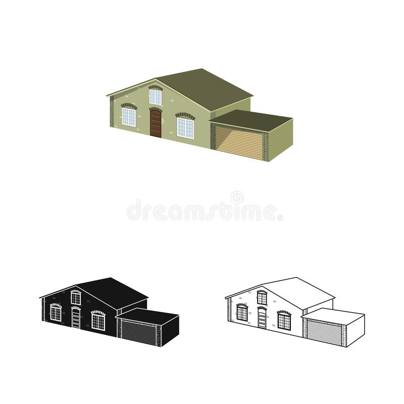 Vector illustration of house and villa sign. Collection of house and dwelling stock symbol for web. Isolated object of house and villa logo. Set of house and vector illustration