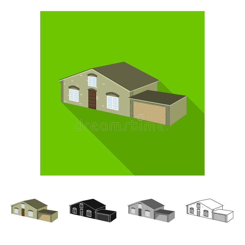 Vector illustration of house and villa sign. Set of house and dwelling vector icon for stock. Isolated object of house and villa logo. Collection of house and vector illustration