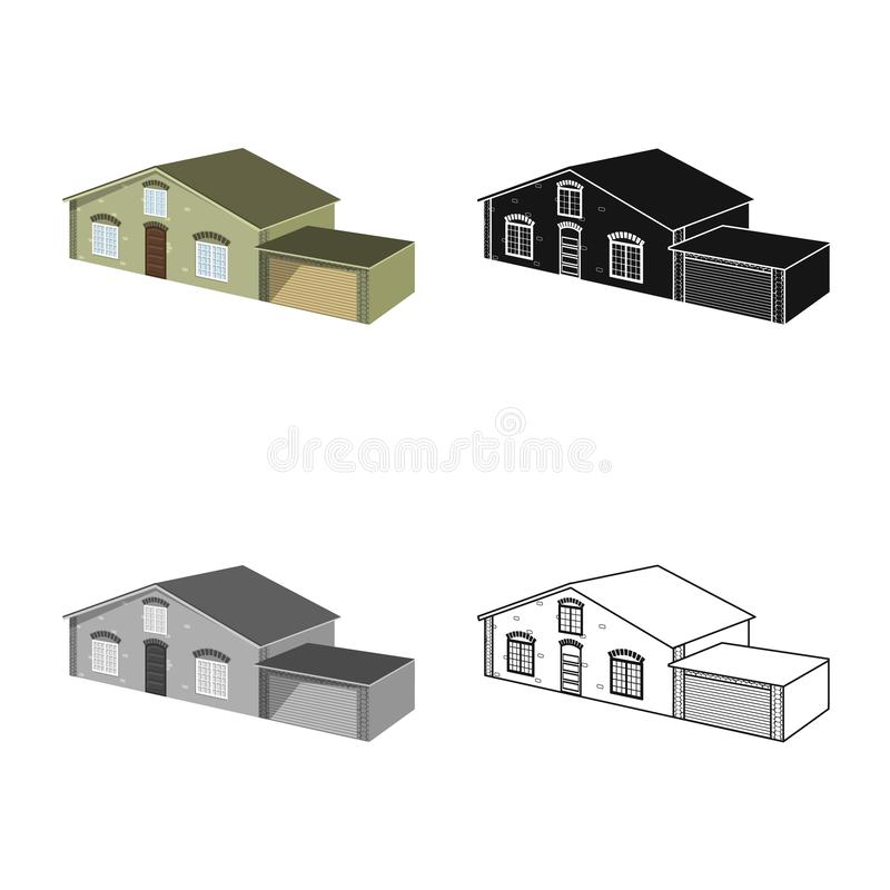 Vector illustration of house and villa symbol. Set of house and dwelling vector icon for stock. Isolated object of house and villa sign. Collection of house and vector illustration