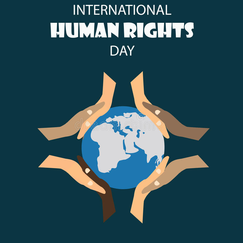 Vector illustration of Human Rights Day background. royalty free illustration