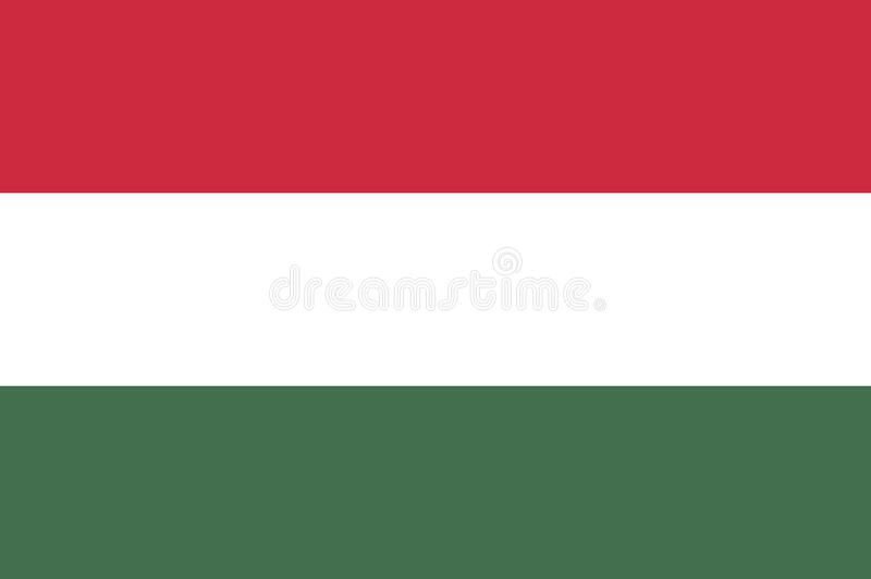 Vector illustration of Hungary flags. Hungary flag, official colors and proportion correctly. National Hungary flag. Vector illustration, EPS10 stock illustration