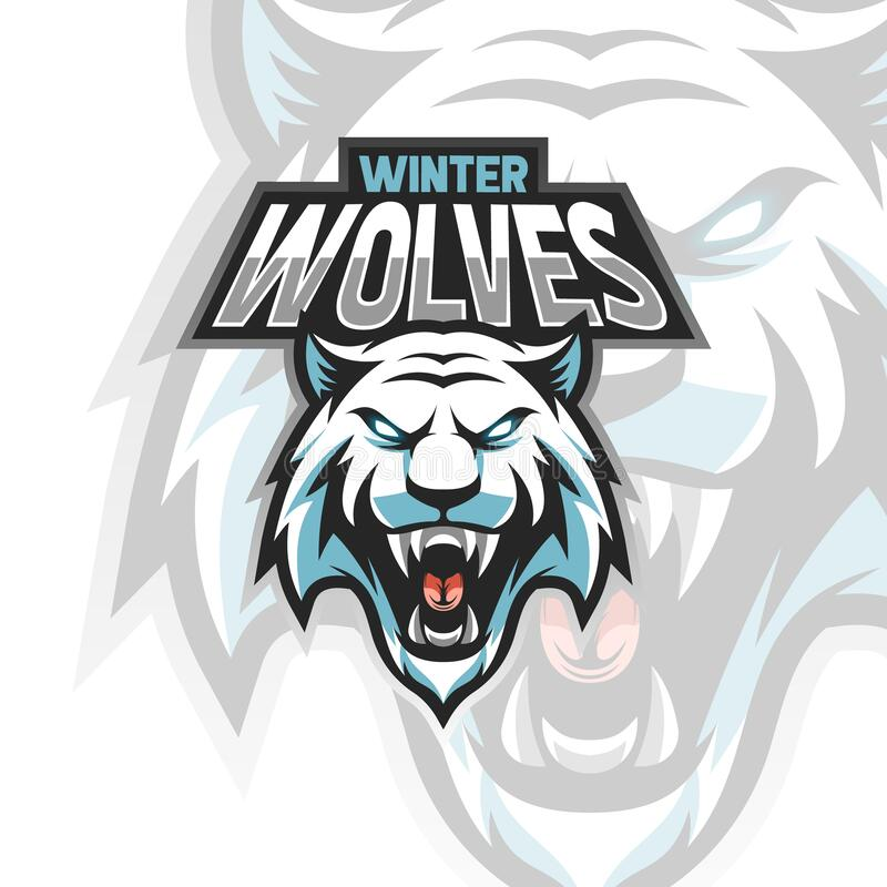 Free Vector Illustration Ice Wolves Logo For Teammate Esport Royalty Free Stock Image - 217146456