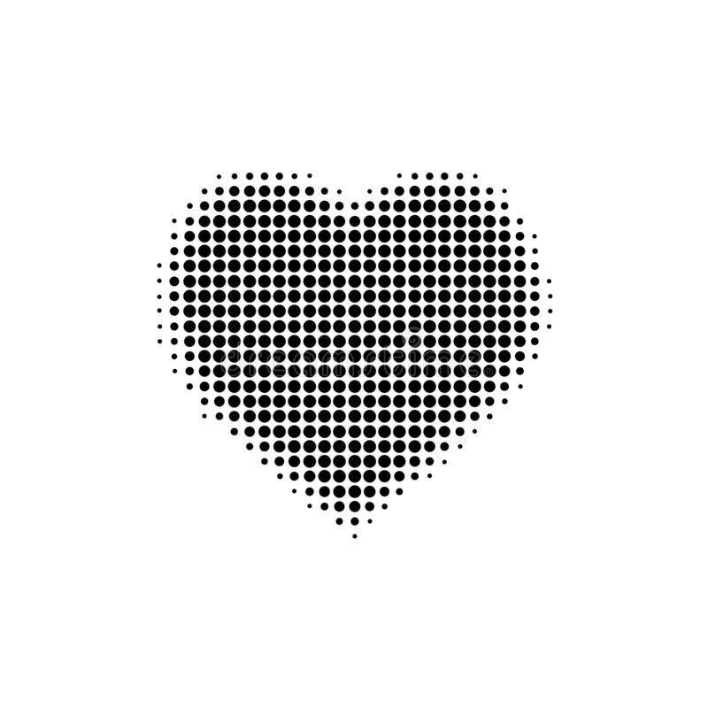 VECTOR ILLUSTRATION ICONS HEART FOR WEB SITE Halftone effect stock illustration