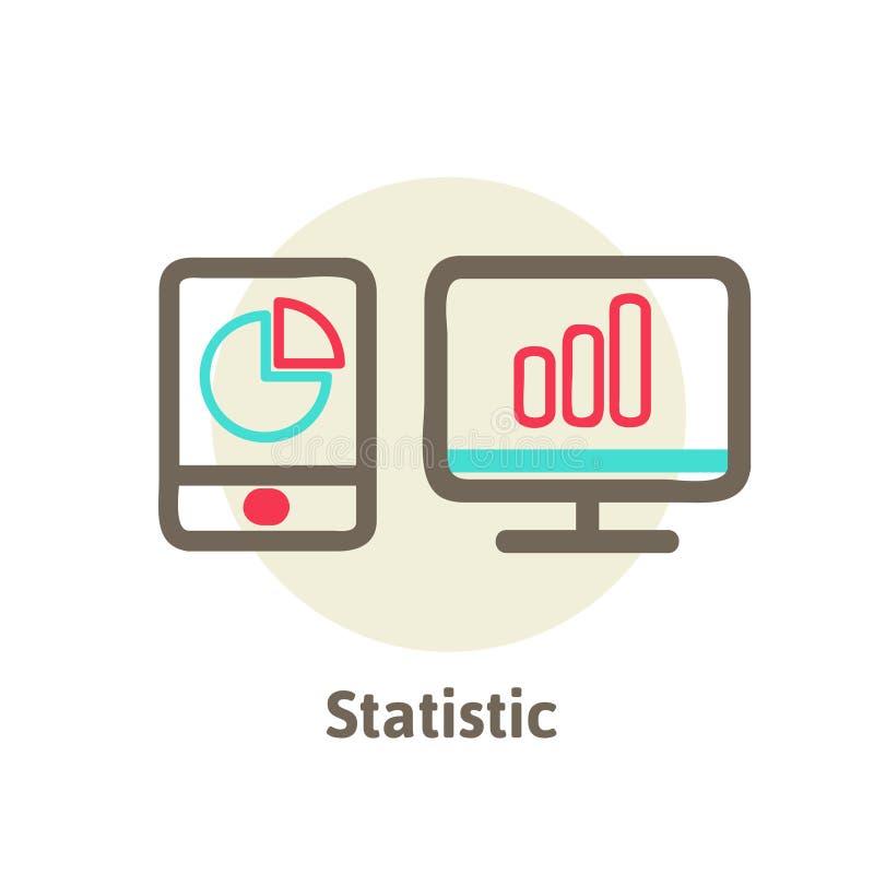 Vector illustration icons of optimization,. Vector illustration icons of website SEO optimization, programming process and web analytics elements royalty free illustration