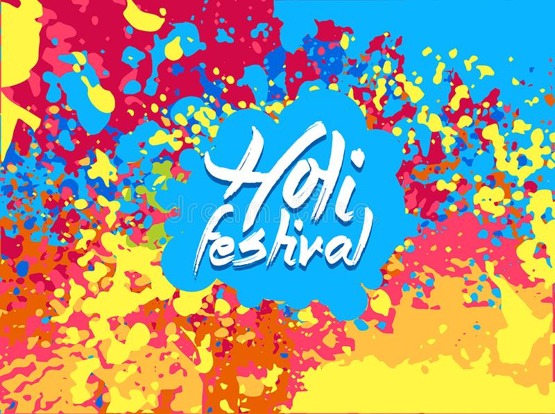 Vector illustration of India Festival of Color Happy Holi background abstract royalty free illustration