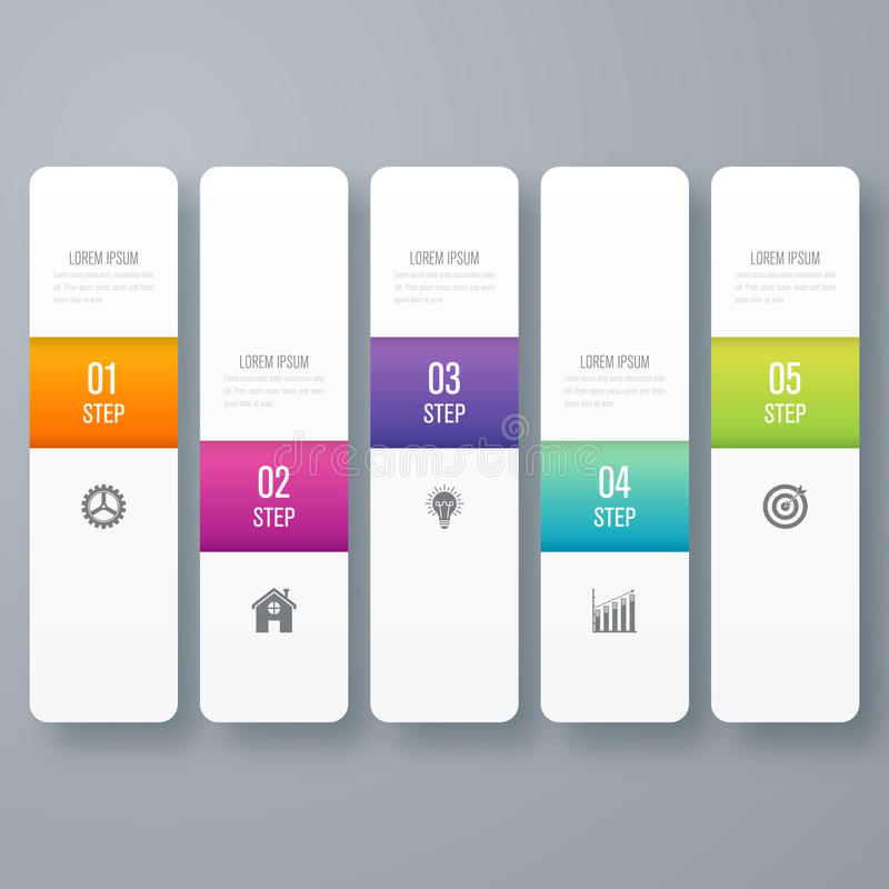 Vector illustration infographic five options royalty free illustration