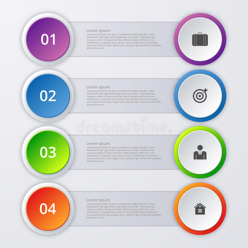 Vector illustration infographics four options.  royalty free illustration