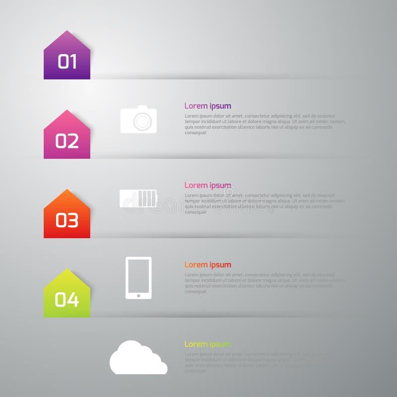 Vector illustration infographics 4 options.  stock illustration