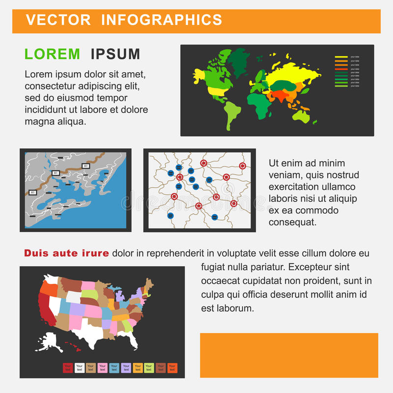 Vector illustration of information graphics stock photos