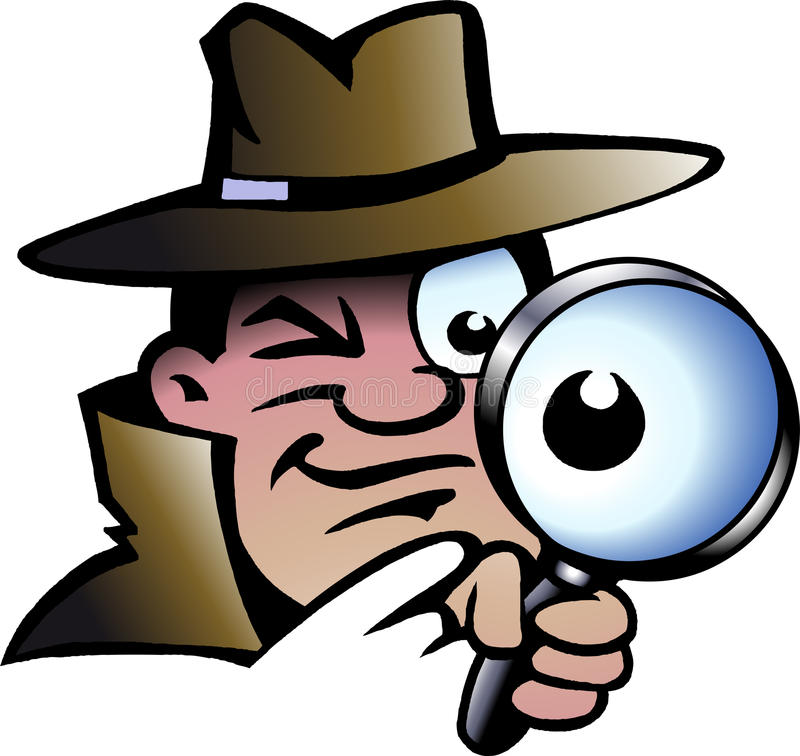 Vector illustration of an Inspector Detective royalty free illustration