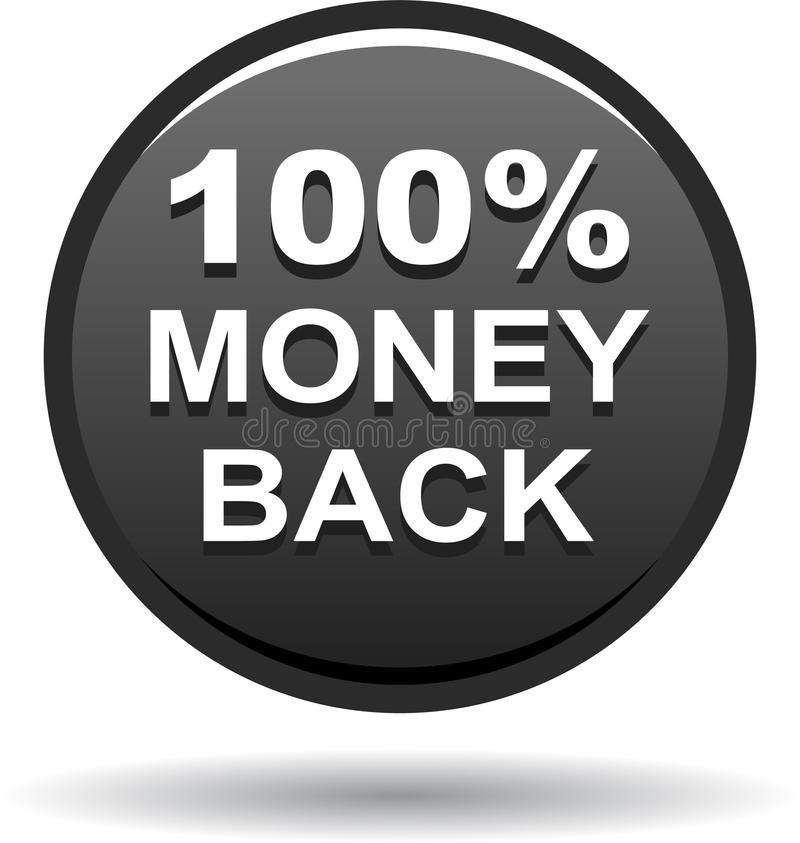 Money back button web icon black. Vector illustration isolated - money back button web icon black vector illustration