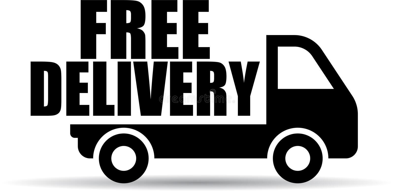 Free delivery truck icon stock illustration