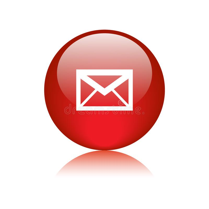 Mail icon web button round royalty free illustration