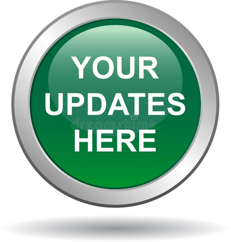 Your updates here web button stock illustration