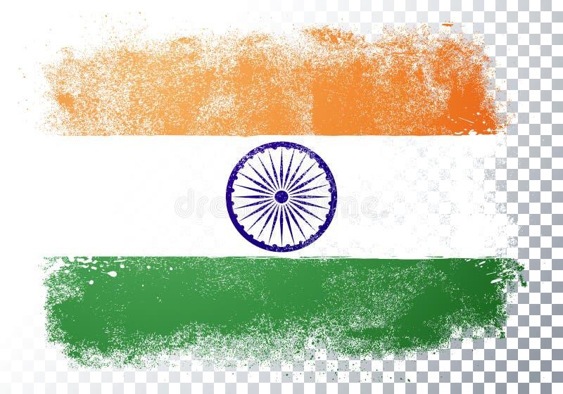 Vector Illustration isolierte Fahne india Hintergrund Verzerrung stock abbildung