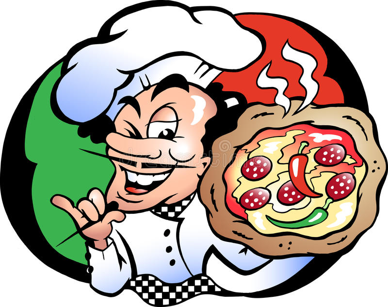Download Vector Illustration Of An Italien Pizza Baker Stock Vector - Image: 20107485