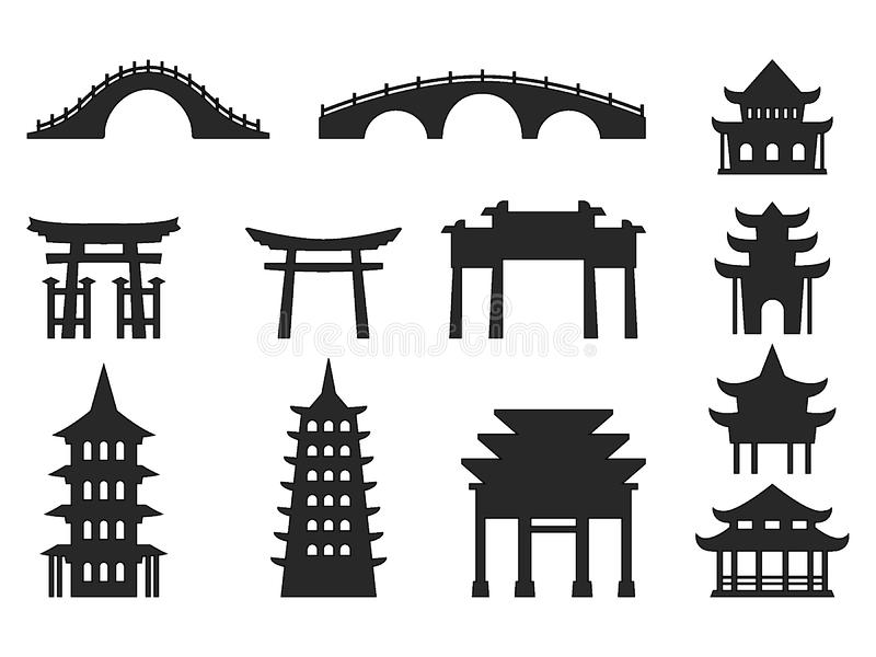 Japanese Culture Icons Set. Vector illustration of the Japanese Culture Icons Set stock illustration