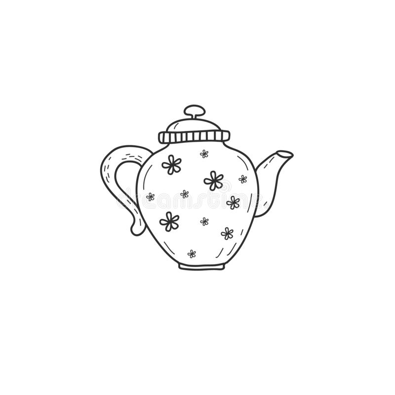 Tea Party Clip Art Black and White