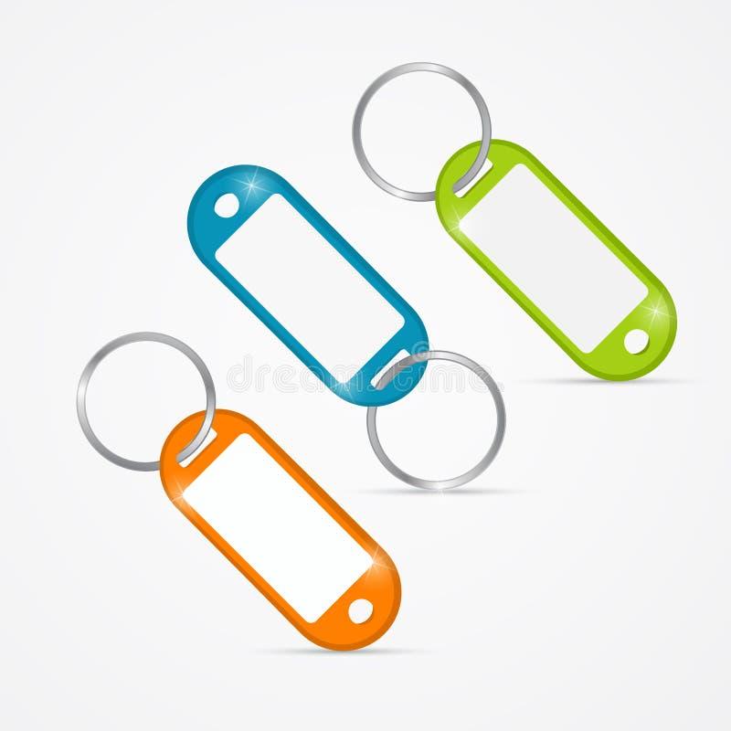 Vector Illustration of Key Tags royalty free illustration