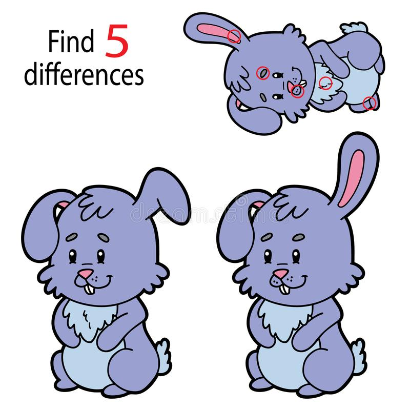 Easter bunny differences vector illustration