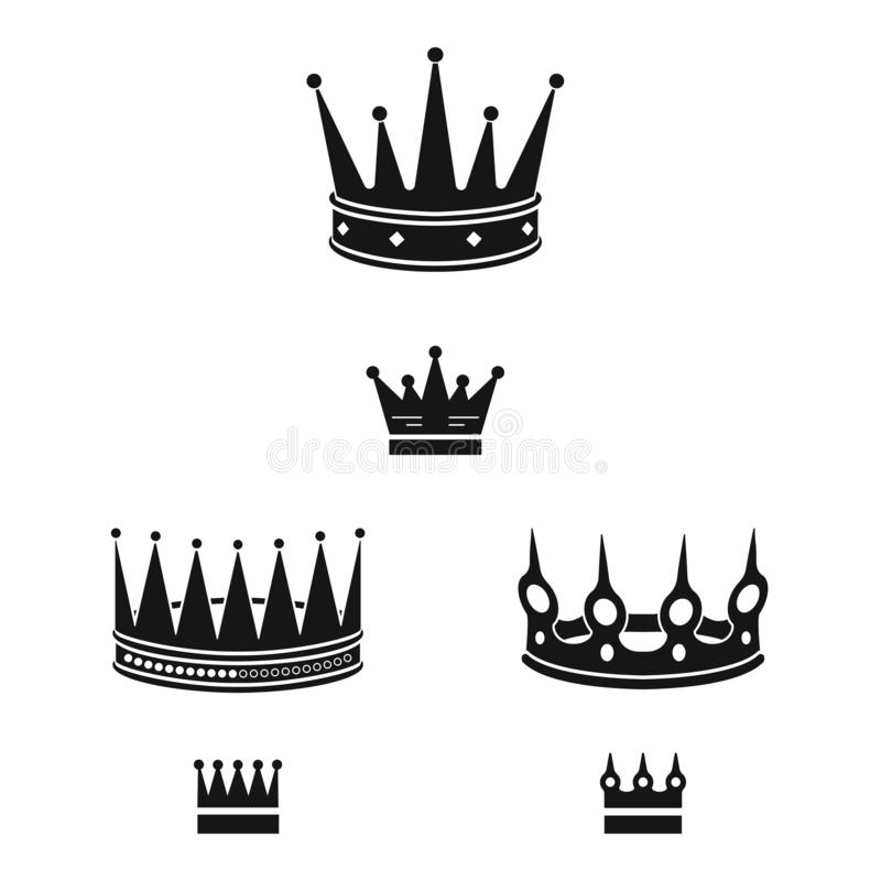 Vector illustration of king and majestic icon. Collection of king and gold stock symbol for web. Isolated object of king and majestic symbol. Set of king and stock illustration