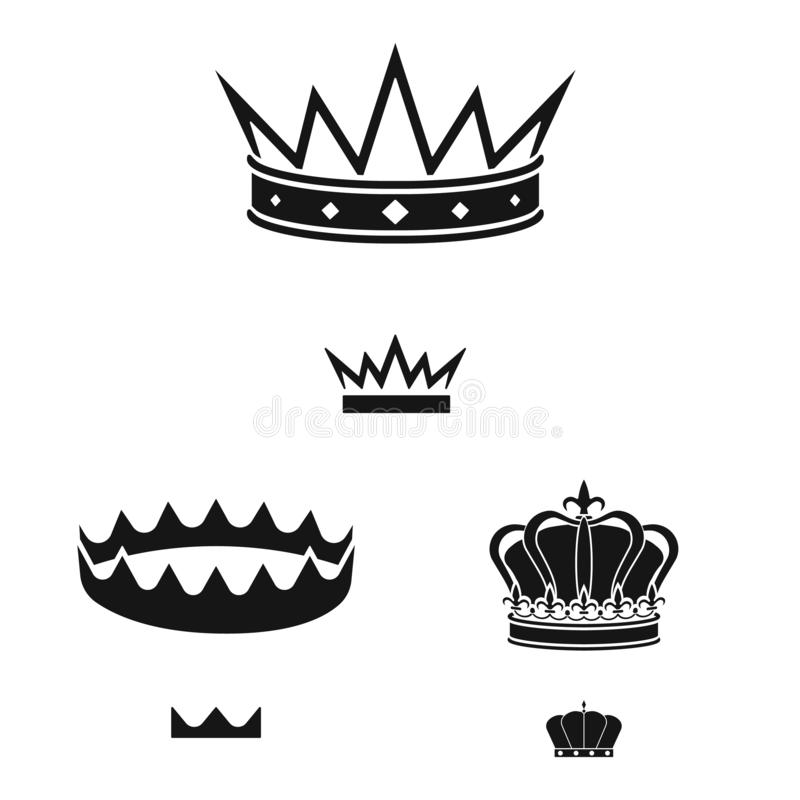 Vector illustration of king and majestic icon. Set of king and gold stock vector illustration. Isolated object of king and majestic symbol. Collection of king vector illustration