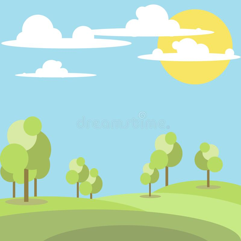 Vector illustration of Park stock photography