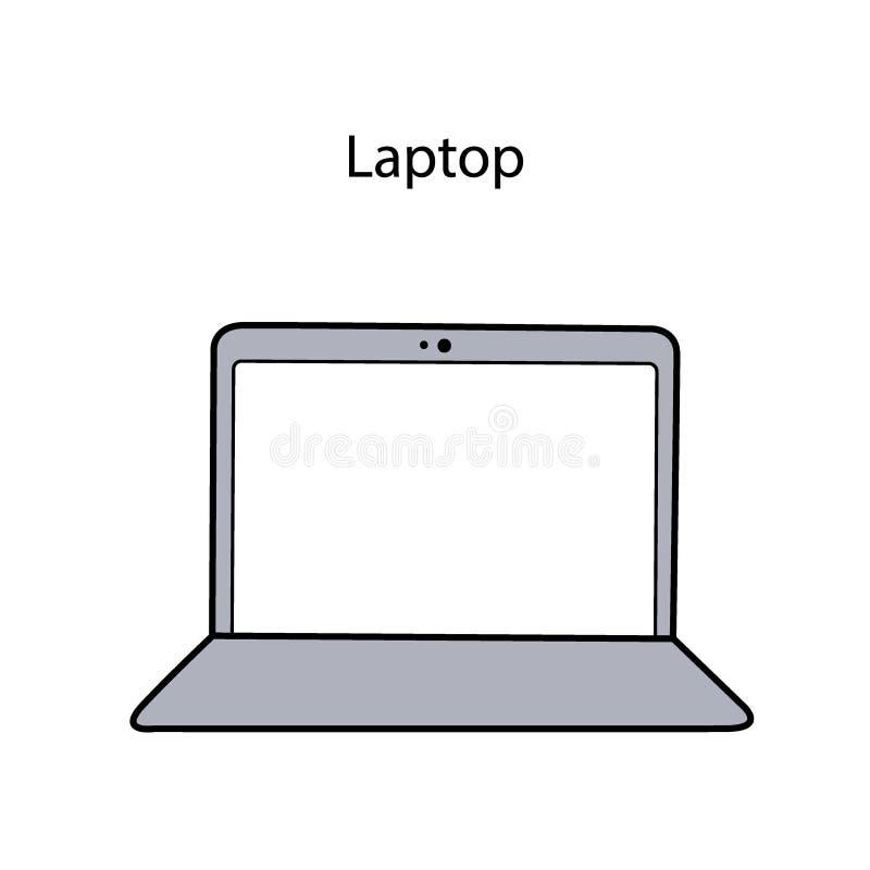 Vector illustration laptop stock illustration