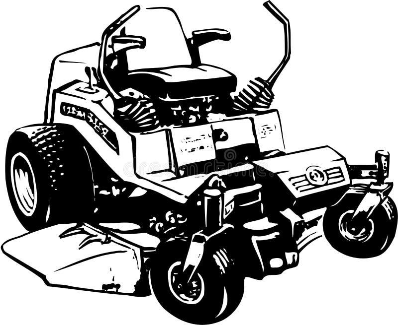 Lawn Mower Illustration. A vector illustration of a lawn mower royalty free illustration