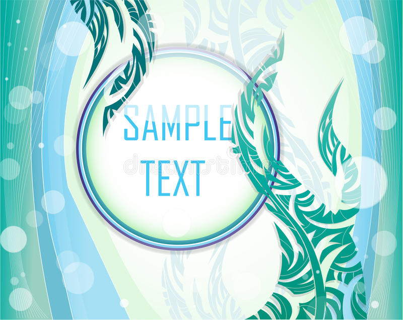 Vector illustration with layout. royalty free illustration