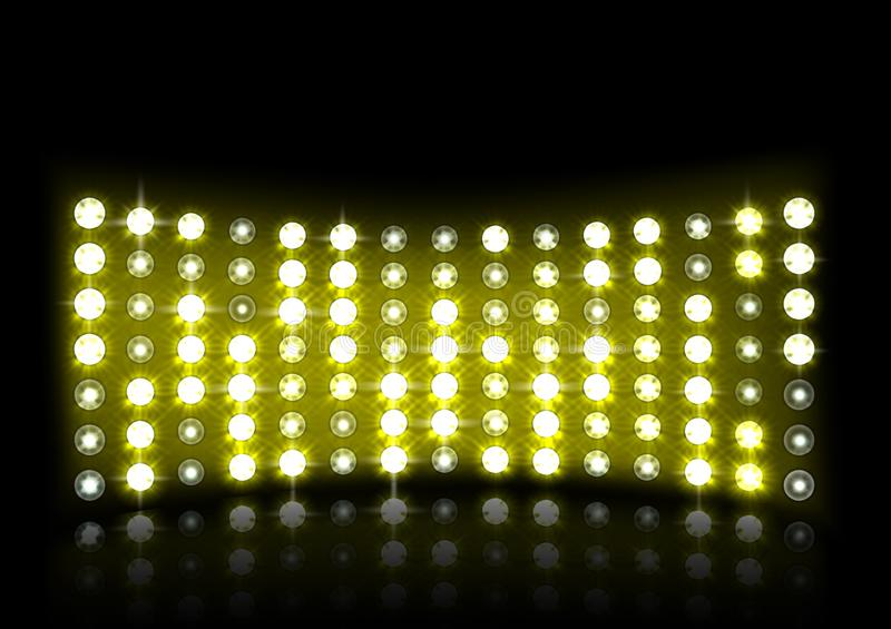 Led projection screen. Vector illustration of Led projection screen vector illustration
