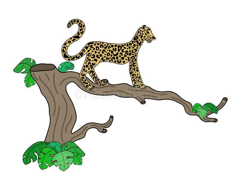 Vector illustration of leopard stock illustration