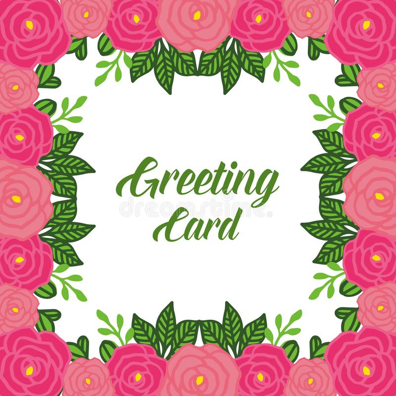 vector illustration lettering of greeting card with decor