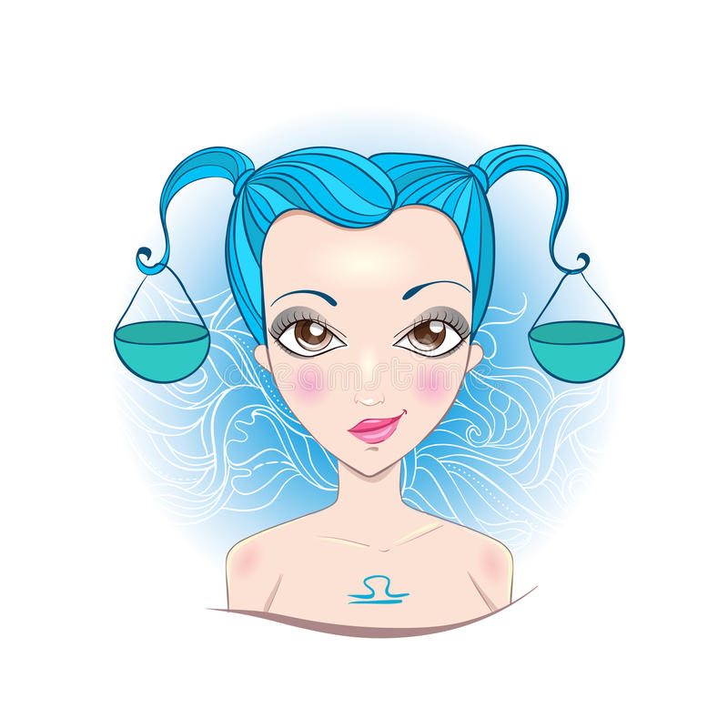 Download Vector Illustration Of Libra Zodiac Sign. Stock Vector - Image: 42187221