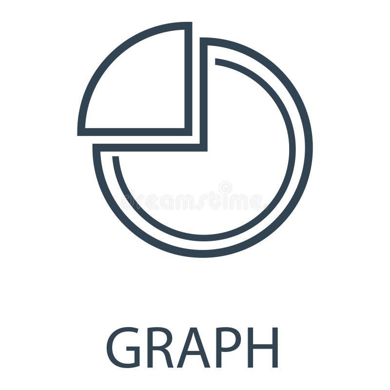 Graph icon royalty free illustration