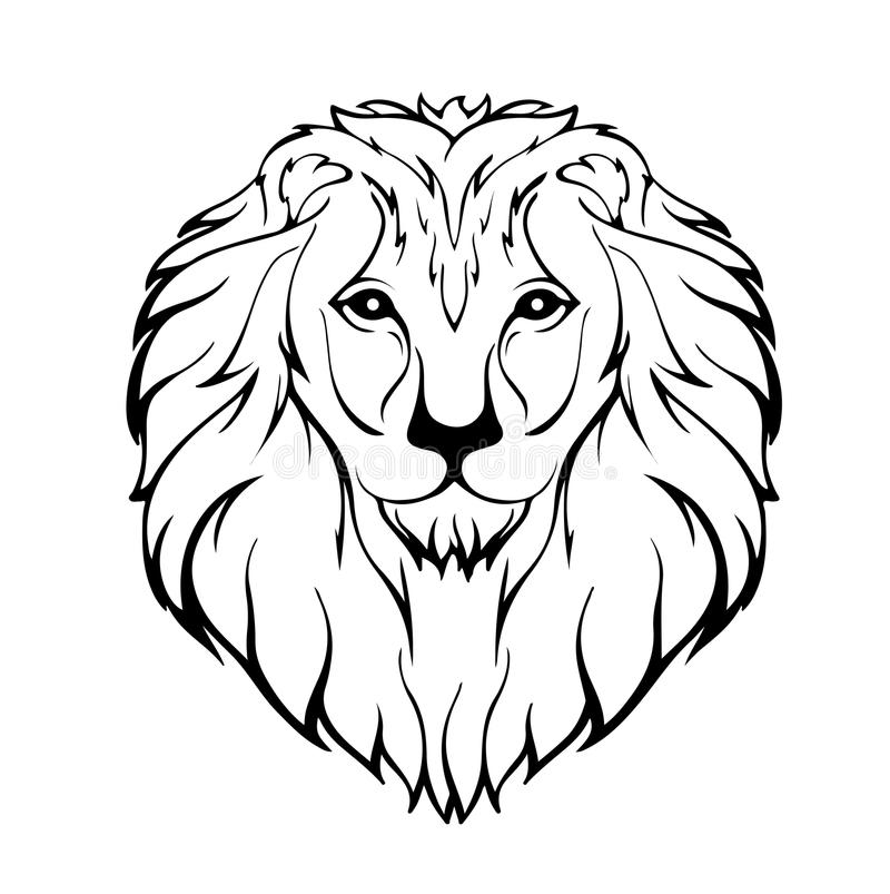 Vector illustration of a lion's head royalty free stock photography