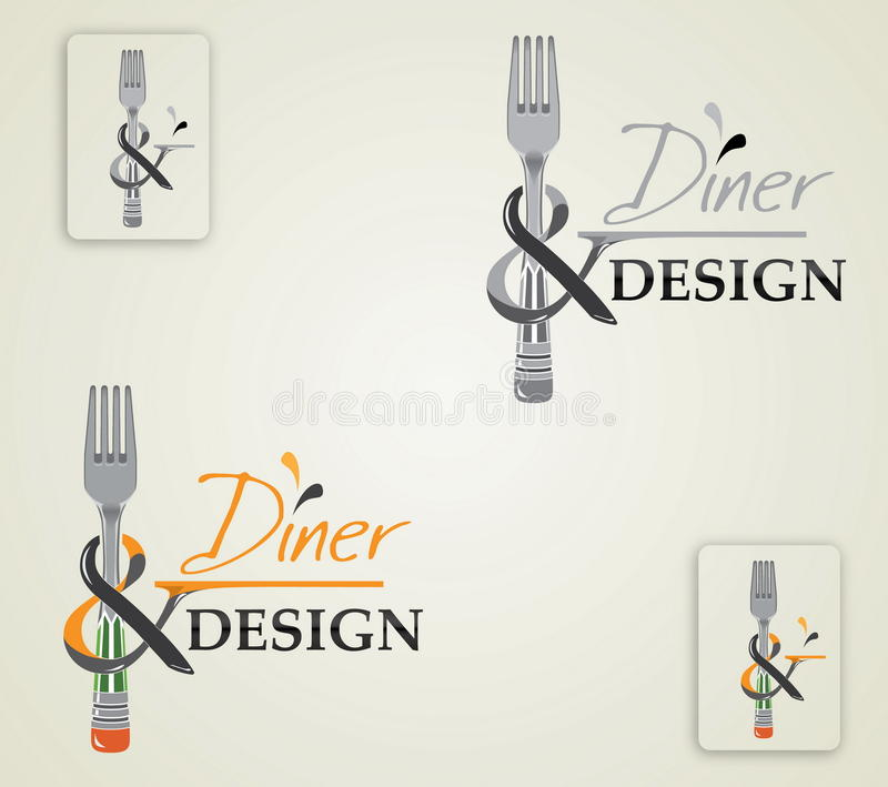 Vector illustration logo diner and design stock photos