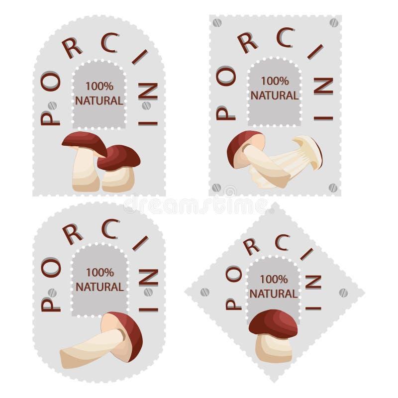 Vector illustration of logo for mushroom porcini. Abstract vector illustration of logo for mushroom porcini vector illustration