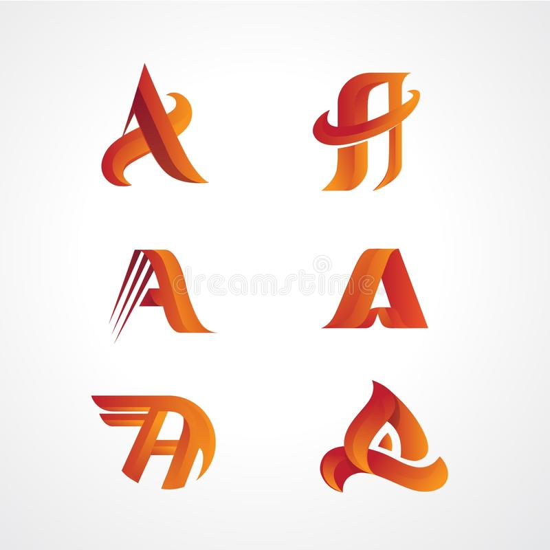 Logo Template Base on Alphabet A vector illustration