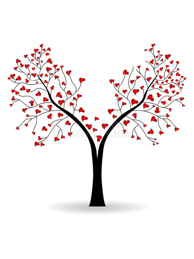 Download Vector Illustration Of A Love Tree Royalty Free Stock Image - Image: 24488306