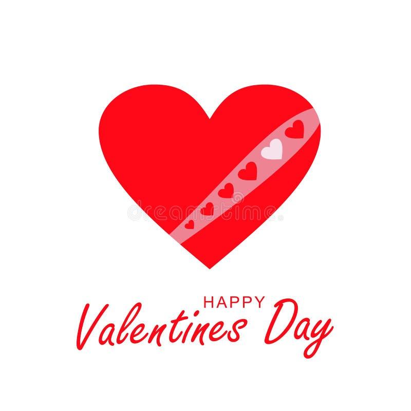 Loving heart. Happy Valentine`s Day Greeting card, banner. Vector illustration. Loving heart. Greeting card, banner. Happy Valentine`s Day. Red heart of love vector illustration
